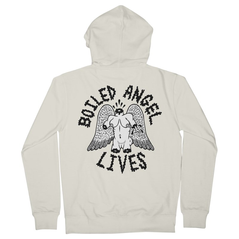 Boiled Angel Lives Women's French Terry Zip-Up Hoody by Mike Diana T-Shirts Mugs and More!