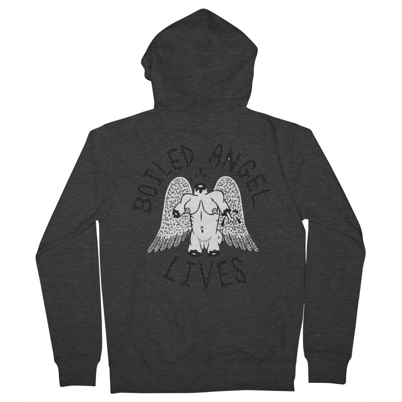 Boiled Angel Lives Men's French Terry Zip-Up Hoody by Mike Diana T-Shirts Mugs and More!