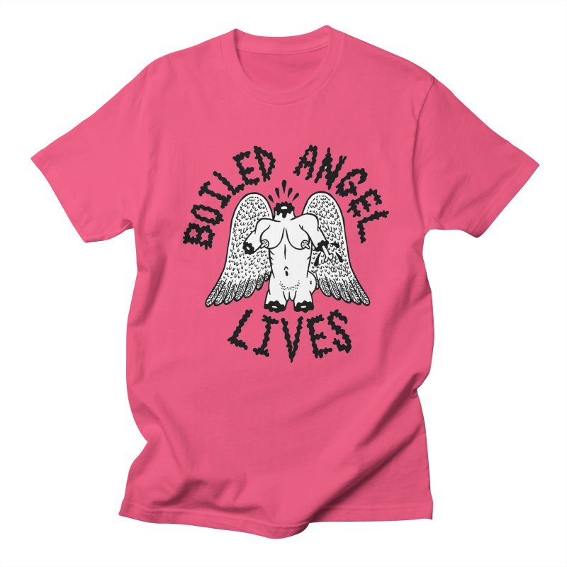 Boiled Angel Lives Women's Regular Unisex T-Shirt by Mike Diana T-Shirts! Horrible Ugly Heads Limited E