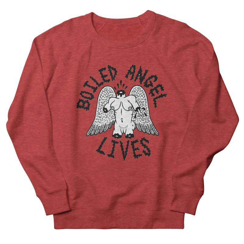 Boiled Angel Lives Men's French Terry Sweatshirt by Mike Diana T-Shirts! Horrible Ugly Heads Limited E
