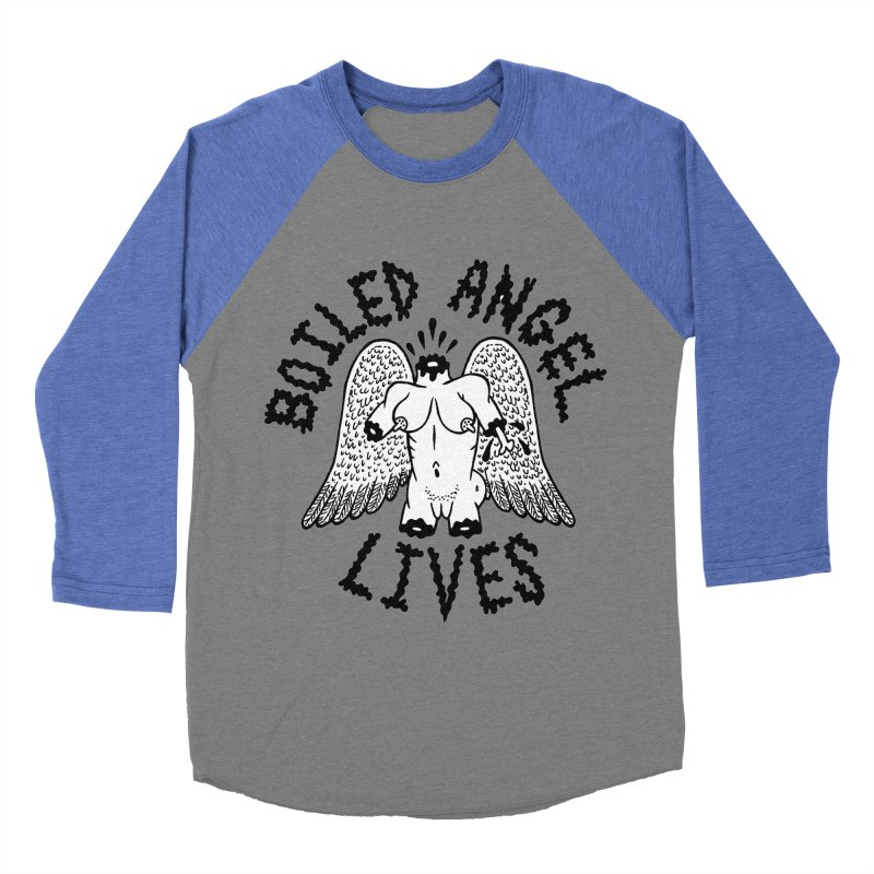 Boiled Angel Lives Women's Baseball Triblend Longsleeve T-Shirt by Mike Diana T-Shirts Mugs and More!