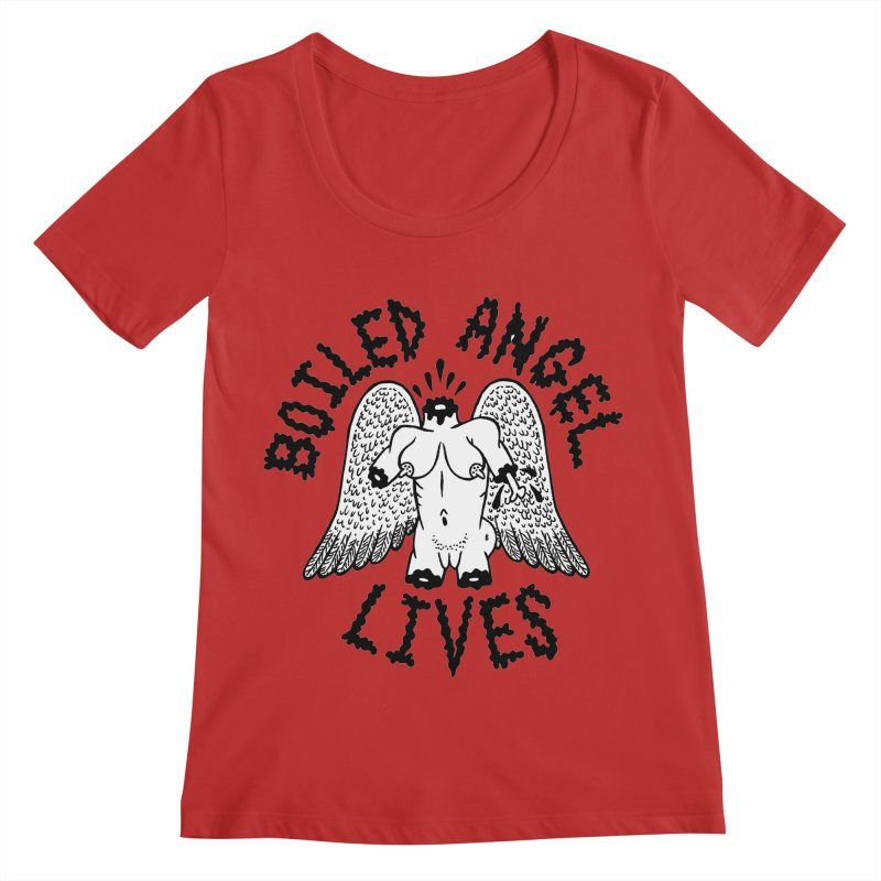 Boiled Angel Lives Women's Scoop Neck by Mike Diana T-Shirts Mugs and More!