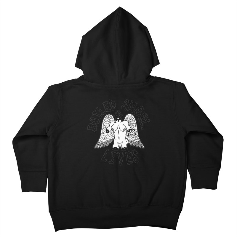 Boiled Angel Lives Kids Toddler Zip-Up Hoody by Mike Diana T-Shirts! Horrible Ugly Heads Limited E