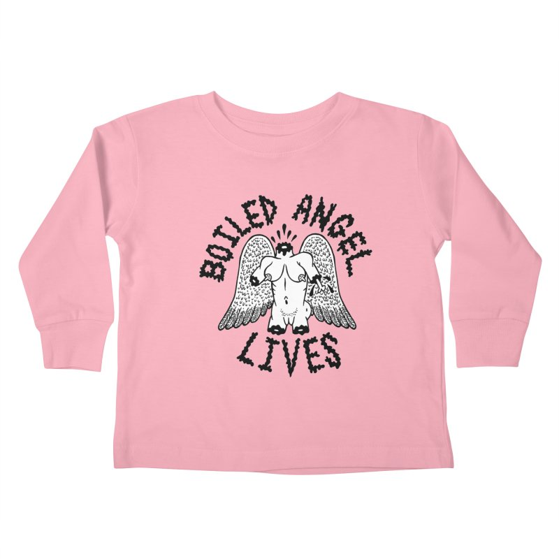 Boiled Angel Lives Kids Toddler Longsleeve T-Shirt by Mike Diana T-Shirts! Horrible Ugly Heads Limited E