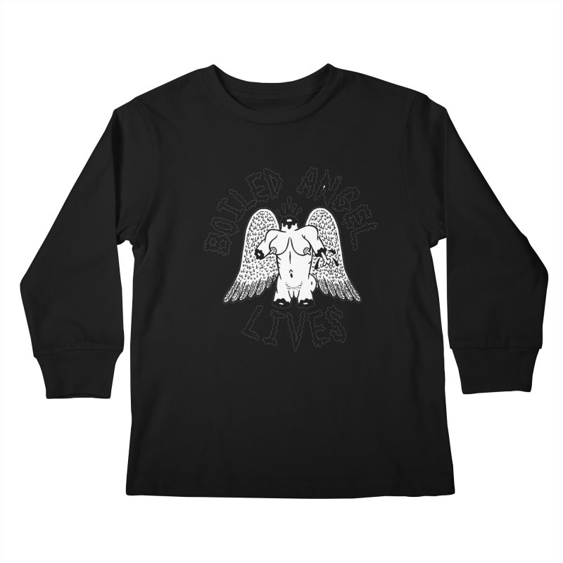 Boiled Angel Lives Kids Longsleeve T-Shirt by Mike Diana T-Shirts Mugs and More!