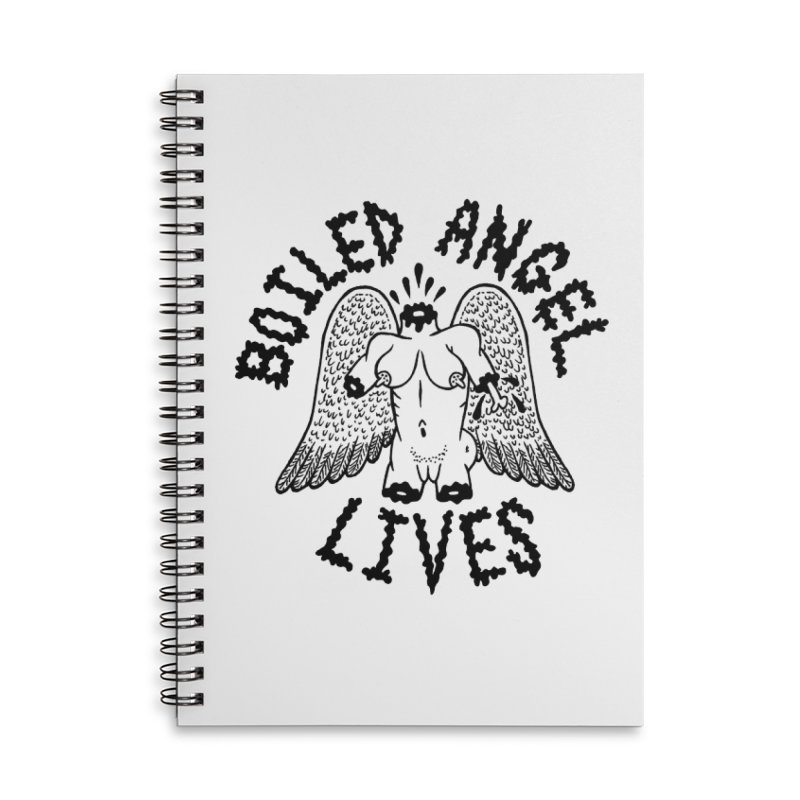 Boiled Angel Lives Accessories Lined Spiral Notebook by Mike Diana T-Shirts Mugs and More!