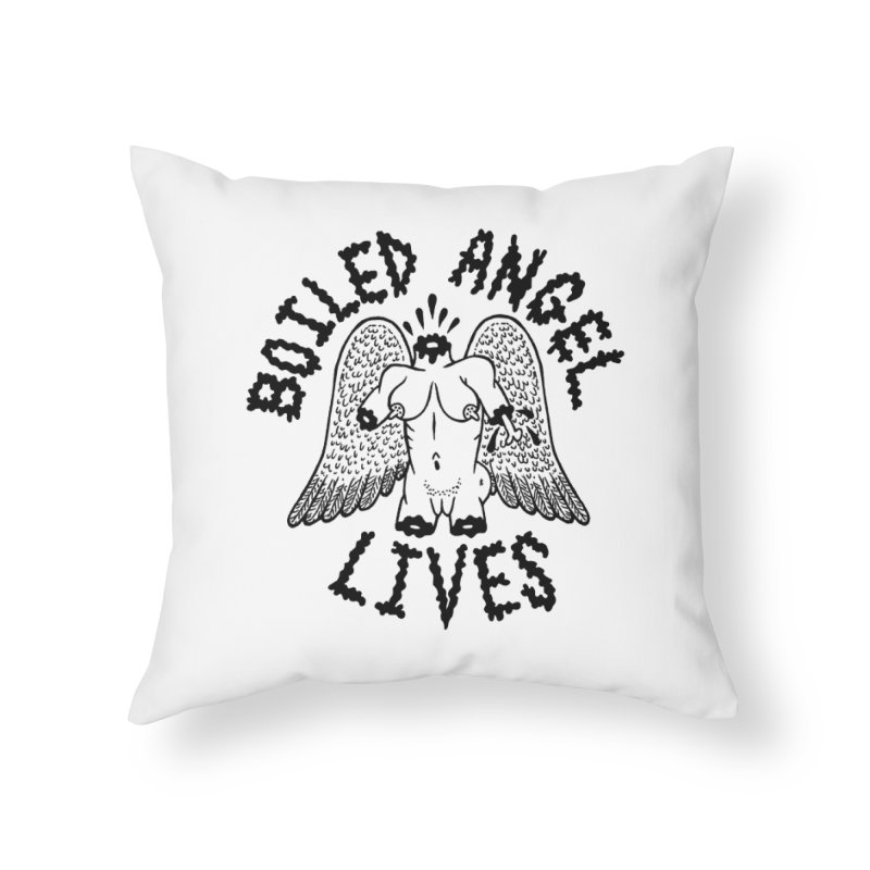 Boiled Angel Lives Home Throw Pillow by Mike Diana T-Shirts Mugs and More!