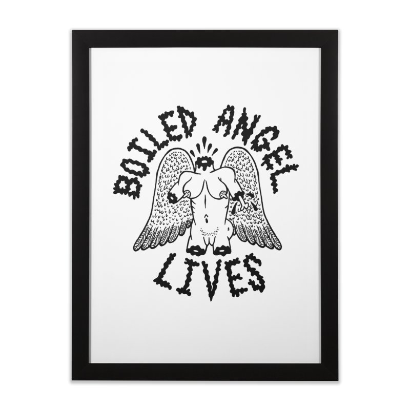 Boiled Angel Lives Home Framed Fine Art Print by Mike Diana T-Shirts! Horrible Ugly Heads Limited E