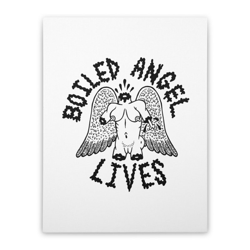 Boiled Angel Lives Home Stretched Canvas by Mike Diana T-Shirts! Horrible Ugly Heads Limited E