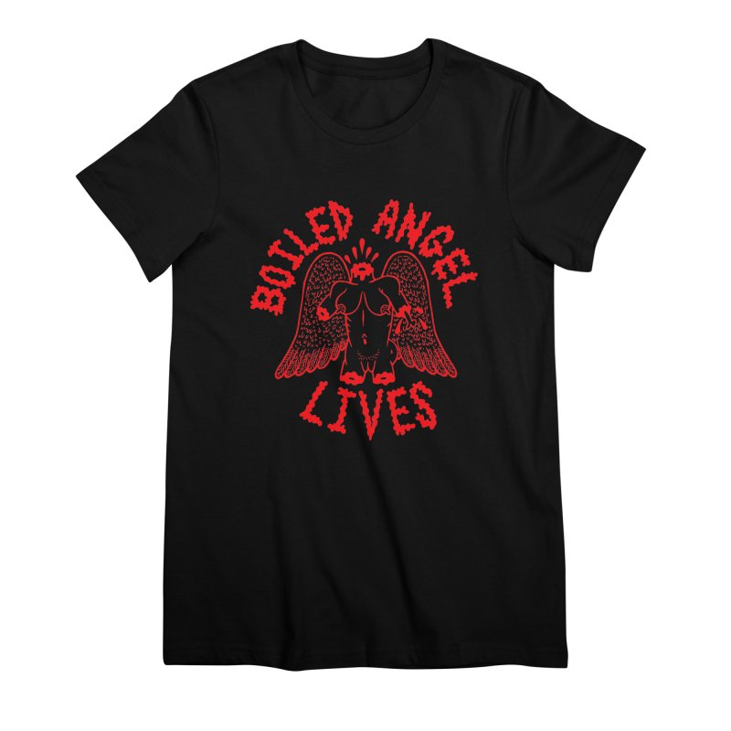 Mike Diana - BOILED ANGEL LIVES - Red Women's Premium T-Shirt by Mike Diana T-Shirts Mugs and More!