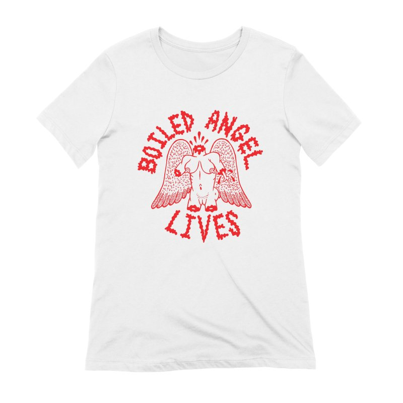Mike Diana - BOILED ANGEL LIVES - Red Women's Extra Soft T-Shirt by Mike Diana T-Shirts! Horrible Ugly Heads Limited E
