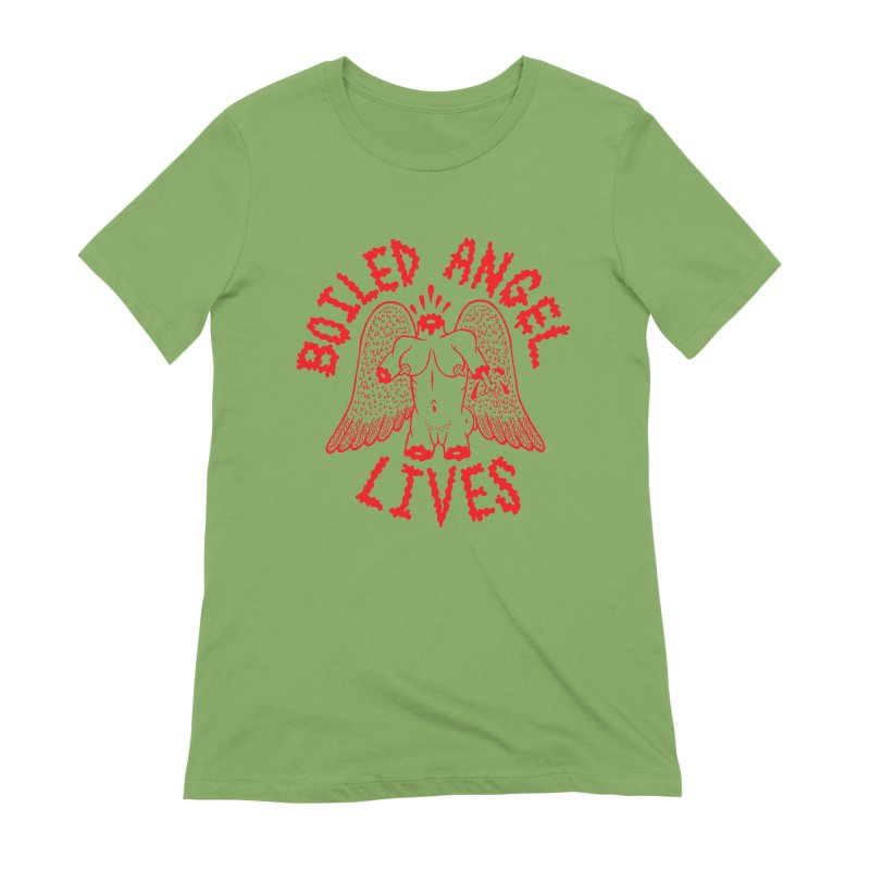 Mike Diana - BOILED ANGEL LIVES - Red Women's Extra Soft T-Shirt by Mike Diana T-Shirts Mugs and More!