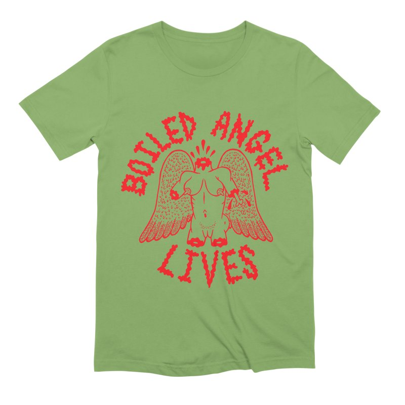Mike Diana - BOILED ANGEL LIVES - Red Men's Extra Soft T-Shirt by Mike Diana T-Shirts Mugs and More!