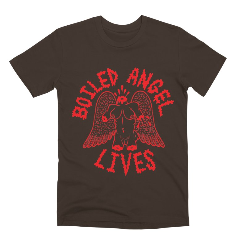 Mike Diana - BOILED ANGEL LIVES - Red Men's Premium T-Shirt by Mike Diana T-Shirts Mugs and More!