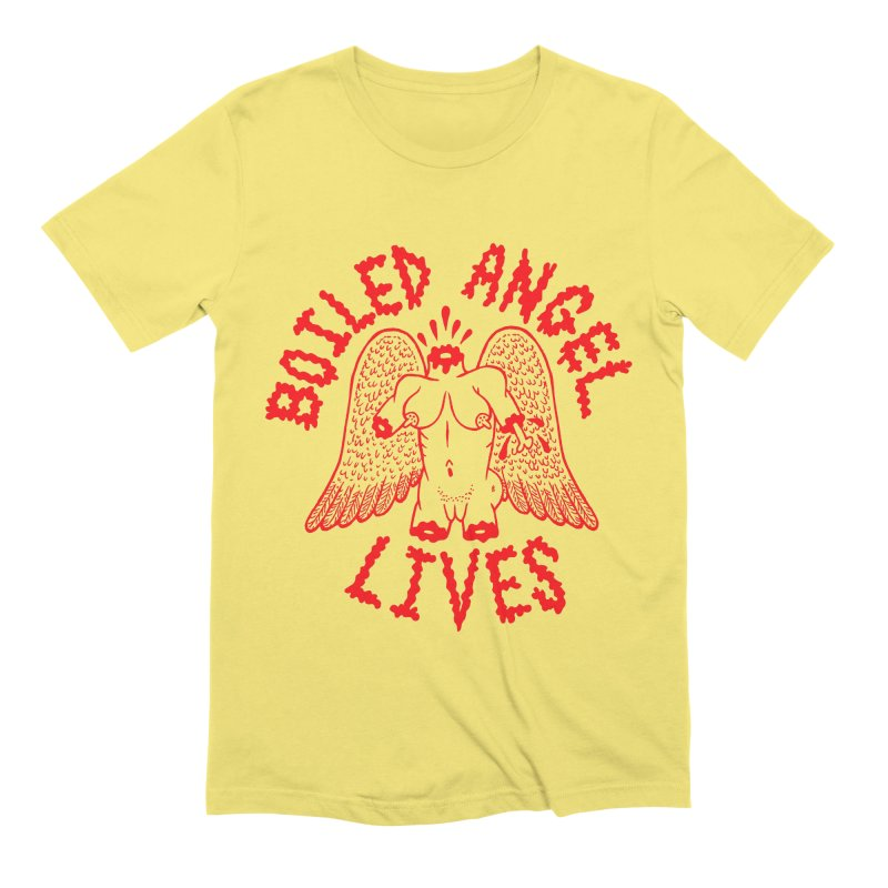 Mike Diana - BOILED ANGEL LIVES - Red Men's Extra Soft T-Shirt by Mike Diana T-Shirts! Horrible Ugly Heads Limited E