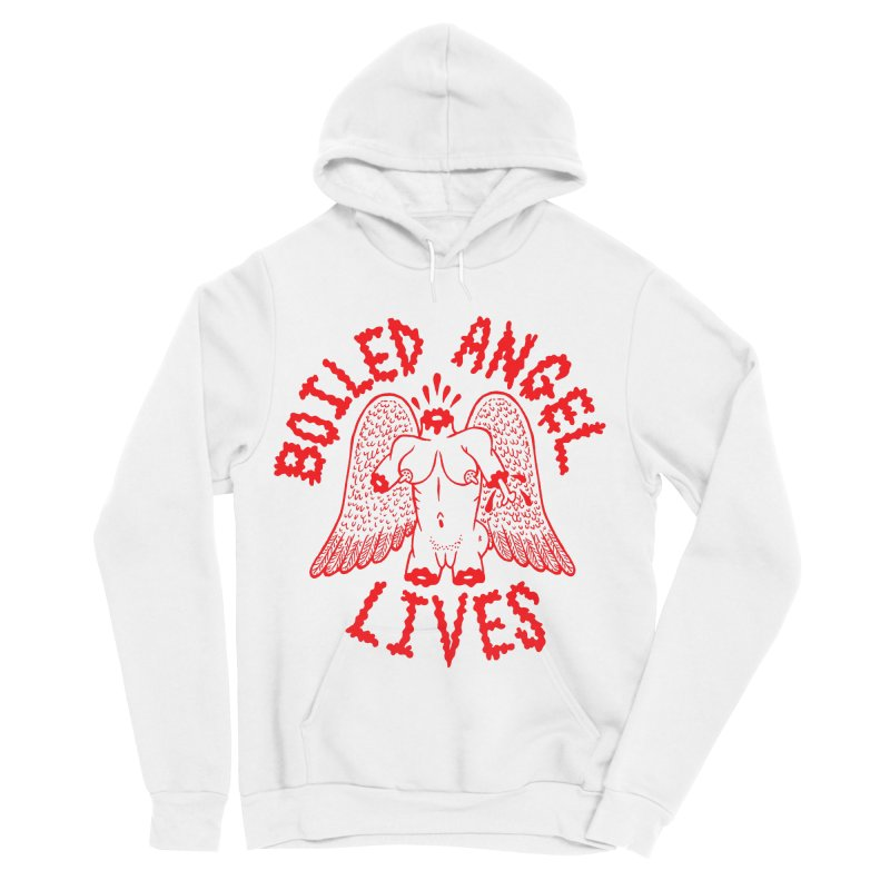 Mike Diana - BOILED ANGEL LIVES - Red Men's Sponge Fleece Pullover Hoody by Mike Diana T-Shirts Mugs and More!