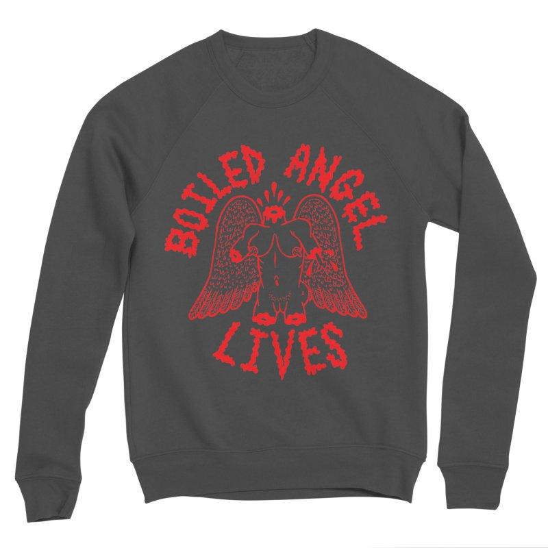 Mike Diana - BOILED ANGEL LIVES - Red Women's Sponge Fleece Sweatshirt by Mike Diana T-Shirts! Horrible Ugly Heads Limited E