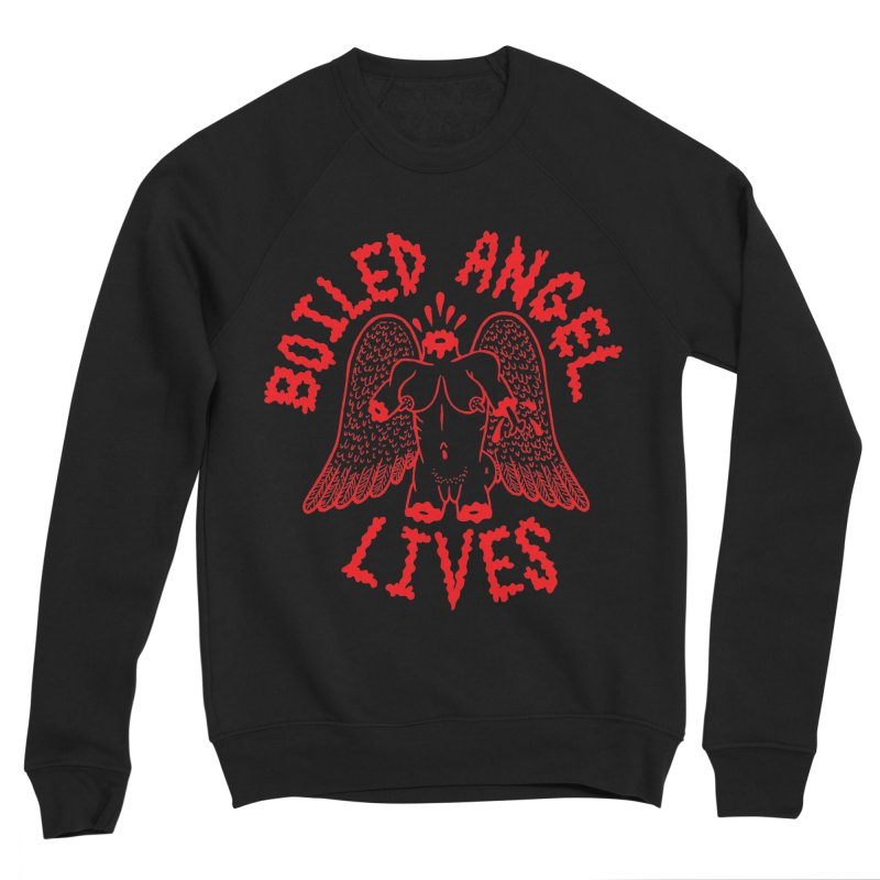 Mike Diana - BOILED ANGEL LIVES - Red Men's Sponge Fleece Sweatshirt by Mike Diana T-Shirts! Horrible Ugly Heads Limited E