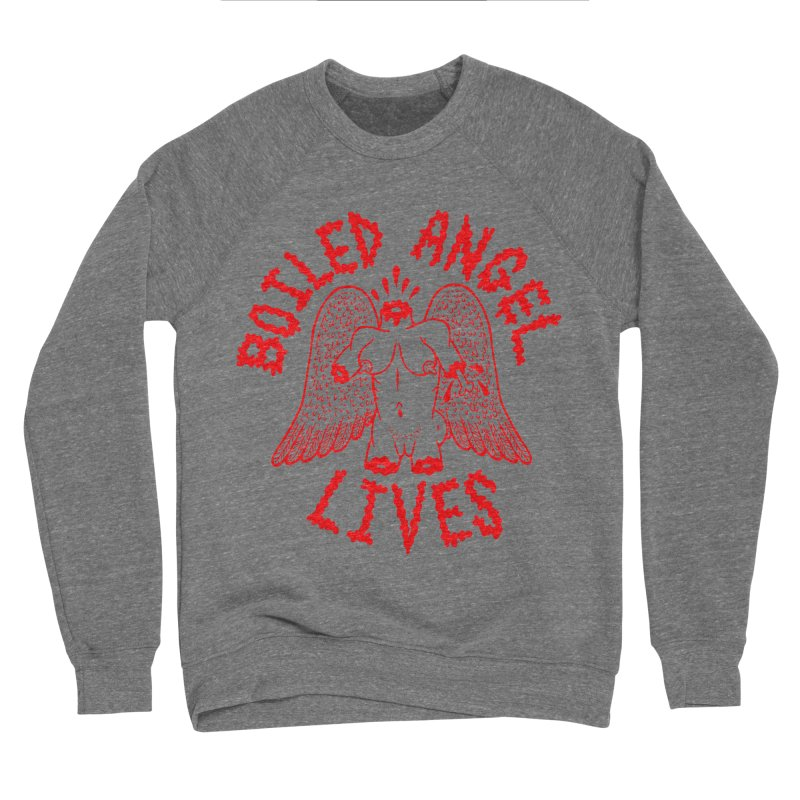 Mike Diana - BOILED ANGEL LIVES - Red Women's Sponge Fleece Sweatshirt by Mike Diana T-Shirts Mugs and More!