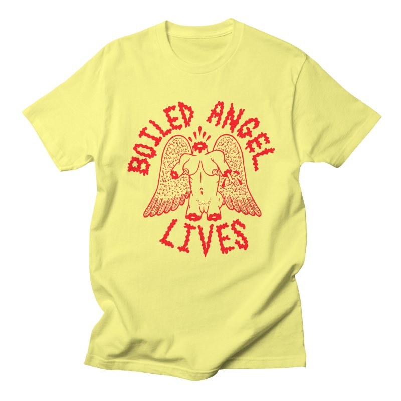 Mike Diana - BOILED ANGEL LIVES - Red Men's T-Shirt by Mike Diana T-Shirts Mugs and More!