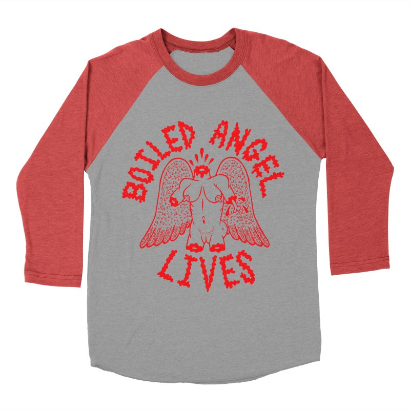 Mike Diana - BOILED ANGEL LIVES - Red Women's Longsleeve T-Shirt by Mike Diana T-Shirts Mugs and More!