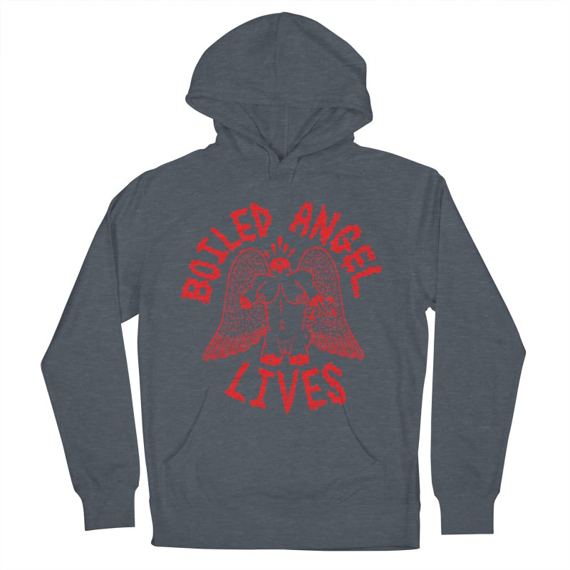 Mike Diana - BOILED ANGEL LIVES - Red Women's French Terry Pullover Hoody by Mike Diana T-Shirts Mugs and More!