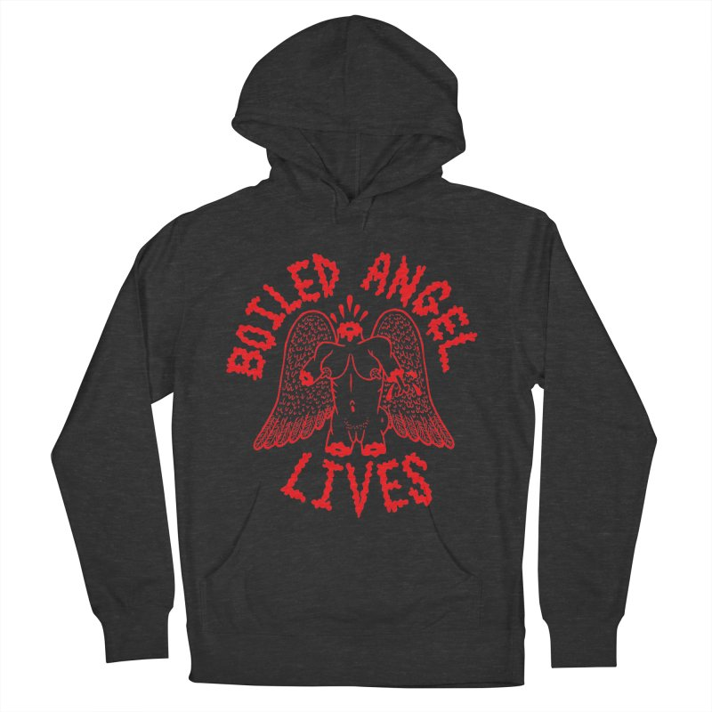 Mike Diana - BOILED ANGEL LIVES - Red Men's French Terry Pullover Hoody by Mike Diana T-Shirts Mugs and More!