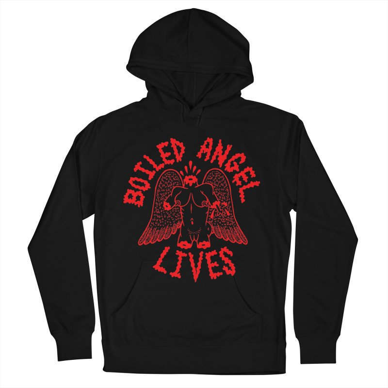Mike Diana - BOILED ANGEL LIVES - Red Men's French Terry Pullover Hoody by Mike Diana T-Shirts! Horrible Ugly Heads Limited E