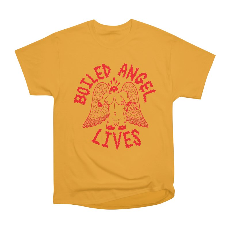 Mike Diana - BOILED ANGEL LIVES - Red Men's Heavyweight T-Shirt by Mike Diana T-Shirts Mugs and More!