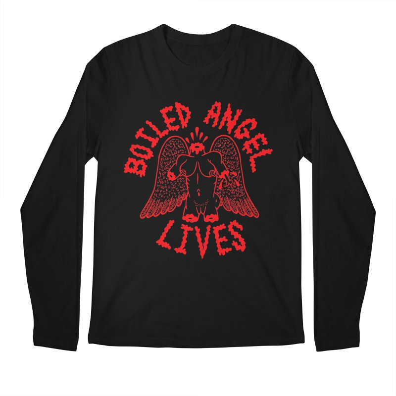 Mike Diana - BOILED ANGEL LIVES - Red Men's Regular Longsleeve T-Shirt by Mike Diana T-Shirts! Horrible Ugly Heads Limited E