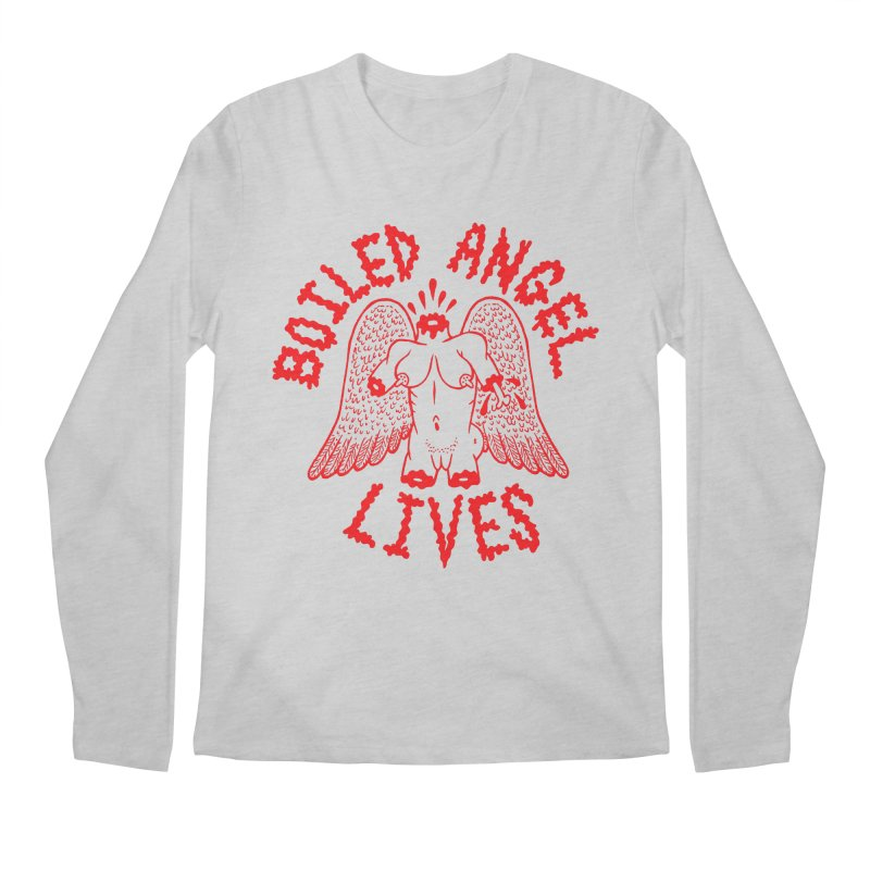 Mike Diana - BOILED ANGEL LIVES - Red Men's Regular Longsleeve T-Shirt by Mike Diana T-Shirts Mugs and More!