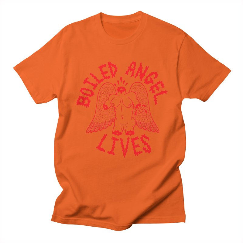 Mike Diana - BOILED ANGEL LIVES - Red Women's Regular Unisex T-Shirt by Mike Diana T-Shirts Mugs and More!
