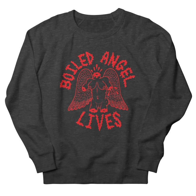 Mike Diana - BOILED ANGEL LIVES - Red Men's French Terry Sweatshirt by Mike Diana T-Shirts! Horrible Ugly Heads Limited E