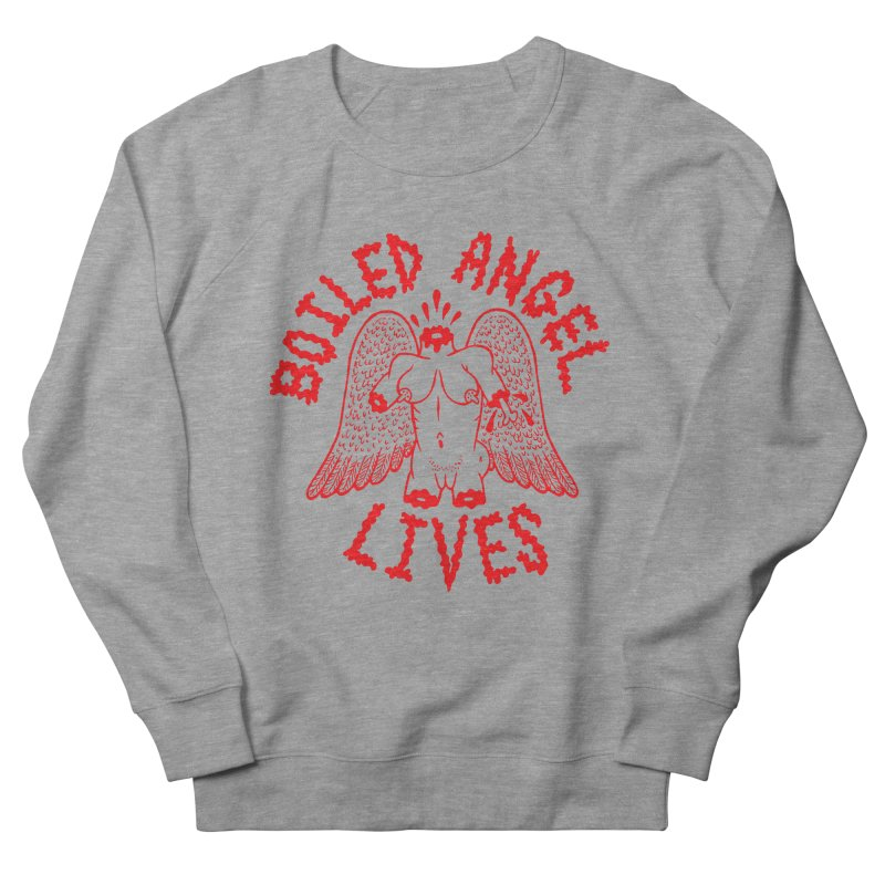 Mike Diana - BOILED ANGEL LIVES - Red Men's French Terry Sweatshirt by Mike Diana T-Shirts Mugs and More!
