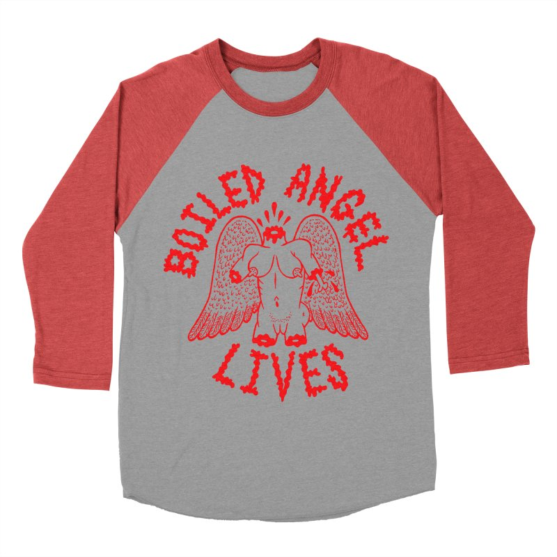 Mike Diana - BOILED ANGEL LIVES - Red Women's Baseball Triblend Longsleeve T-Shirt by Mike Diana T-Shirts Mugs and More!