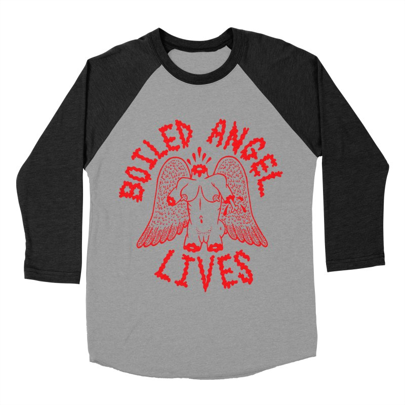 Mike Diana - BOILED ANGEL LIVES - Red Men's Baseball Triblend Longsleeve T-Shirt by Mike Diana T-Shirts Mugs and More!