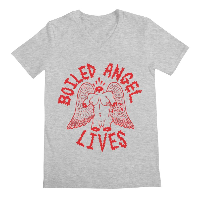 Mike Diana - BOILED ANGEL LIVES - Red Men's Regular V-Neck by Mike Diana T-Shirts Mugs and More!