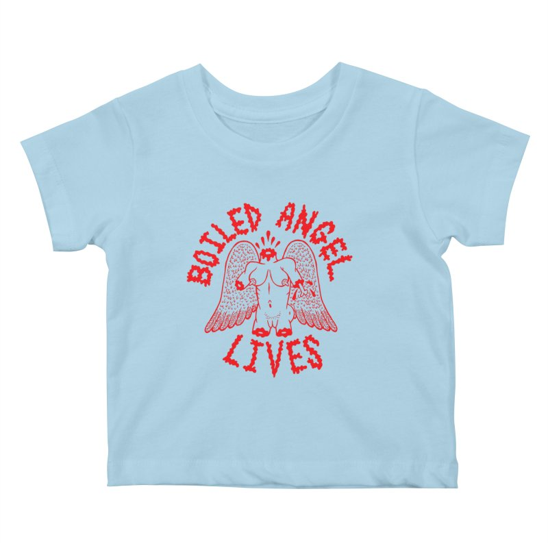 Mike Diana - BOILED ANGEL LIVES - Red Kids Baby T-Shirt by Mike Diana T-Shirts Mugs and More!