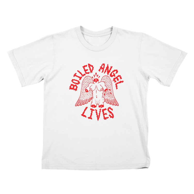 Mike Diana - BOILED ANGEL LIVES - Red Kids Toddler T-Shirt by Mike Diana T-Shirts! Horrible Ugly Heads Limited E
