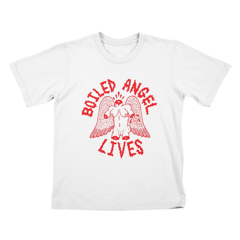 Mike Diana - BOILED ANGEL LIVES - Red Kids T-Shirt by Mike Diana T-Shirts Mugs and More!