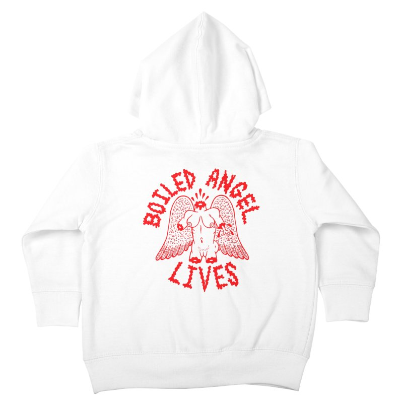 Mike Diana - BOILED ANGEL LIVES - Red Kids Toddler Zip-Up Hoody by Mike Diana T-Shirts Mugs and More!