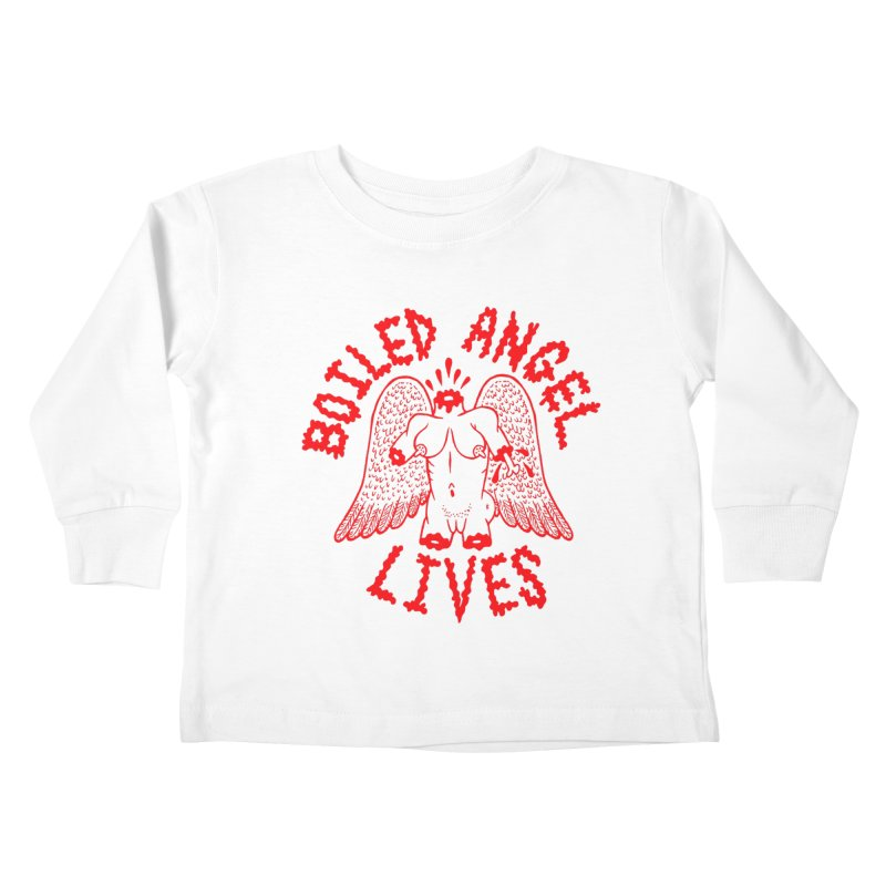 Mike Diana - BOILED ANGEL LIVES - Red Kids Toddler Longsleeve T-Shirt by Mike Diana T-Shirts! Horrible Ugly Heads Limited E
