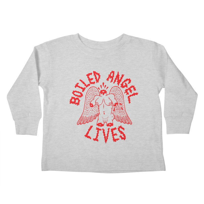 Mike Diana - BOILED ANGEL LIVES - Red Kids Toddler Longsleeve T-Shirt by Mike Diana T-Shirts Mugs and More!