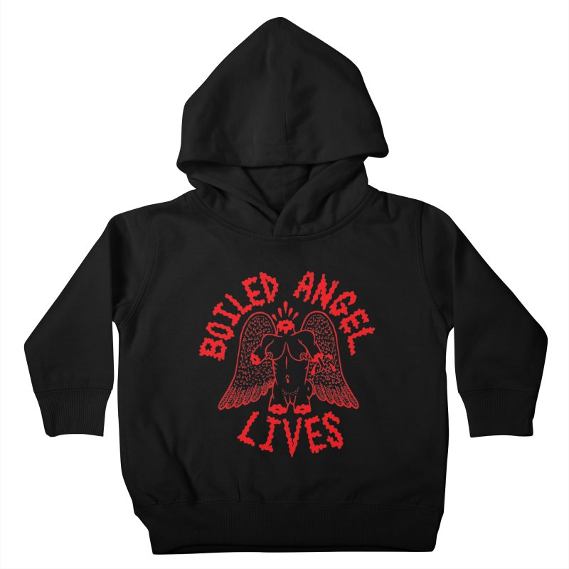 Mike Diana - BOILED ANGEL LIVES - Red Kids Toddler Pullover Hoody by Mike Diana T-Shirts Mugs and More!