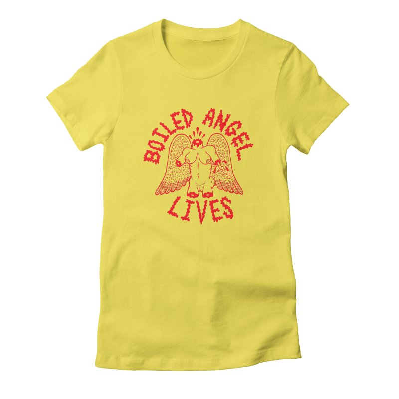 Mike Diana - BOILED ANGEL LIVES - Red Women's T-Shirt by Mike Diana T-Shirts Mugs and More!