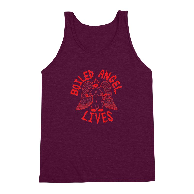 Mike Diana - BOILED ANGEL LIVES - Red Men's Triblend Tank by Mike Diana T-Shirts Mugs and More!