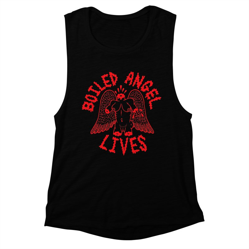 Mike Diana - BOILED ANGEL LIVES - Red Women's Muscle Tank by Mike Diana T-Shirts Mugs and More!