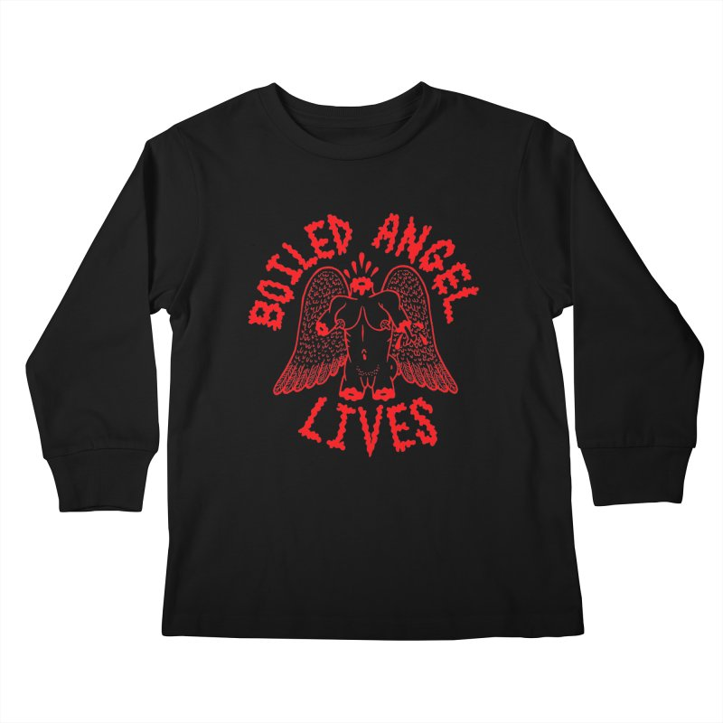 Mike Diana - BOILED ANGEL LIVES - Red Kids Longsleeve T-Shirt by Mike Diana T-Shirts Mugs and More!