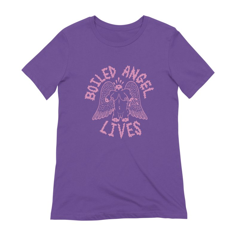 Mike Diana - BOILED ANGEL LIVES - Pink Women's Extra Soft T-Shirt by Mike Diana T-Shirts Mugs and More!