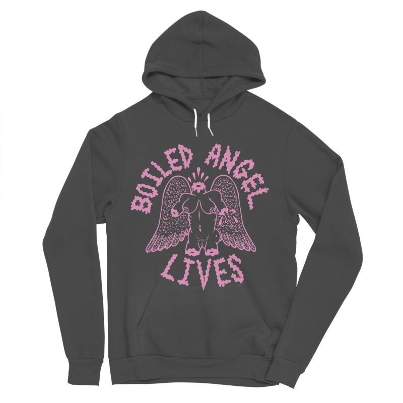 Mike Diana - BOILED ANGEL LIVES - Pink Women's Sponge Fleece Pullover Hoody by Mike Diana T-Shirts Mugs and More!